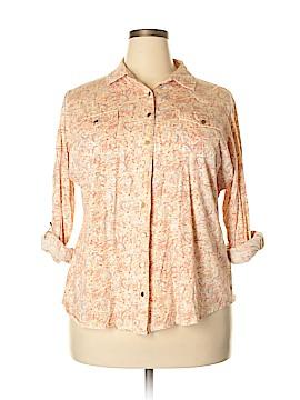 Ruff Hewn Long Sleeve Button-Down Shirt Size 2X (Plus)