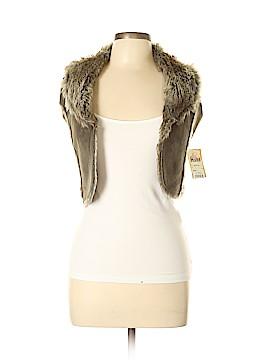 Mudd Faux Fur Vest Size M