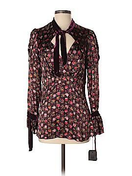 Anna Sui Long Sleeve Silk Top Size 8