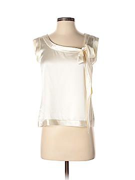 Oscar De La Renta Sleeveless Silk Top Size 8