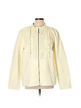 Susan Graver Faux Leather Jacket Size XL