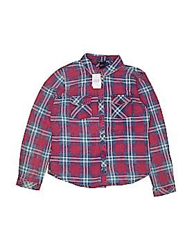 Girls Long Sleeve Button-Down Shirt Size 14 - 16