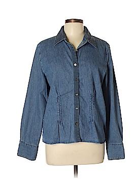 J.jill Long Sleeve Button-Down Shirt Size L (Tall)