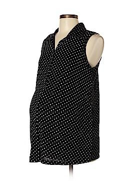 Inspire Maternity Sleeveless Button-Down Shirt Size L (Maternity)