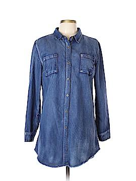 Lara Long Sleeve Button-Down Shirt Size L