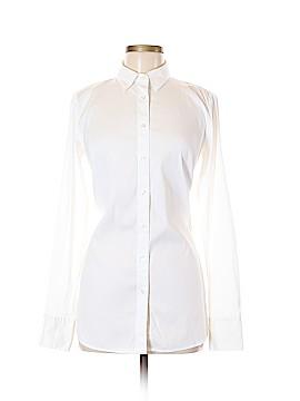Ann Taylor Long Sleeve Button-Down Shirt Size 8 (Tall)