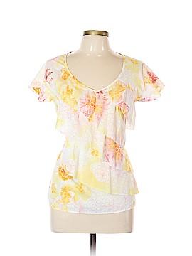 Harve Benard Short Sleeve Blouse Size XL