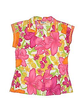 D&G Junior Short Sleeve Button-Down Shirt Size L (Youth)