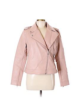Ann Taylor LOFT Faux Leather Jacket Size 8