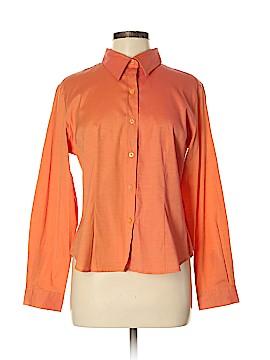 Fashion Bug Long Sleeve Button-Down Shirt Size M
