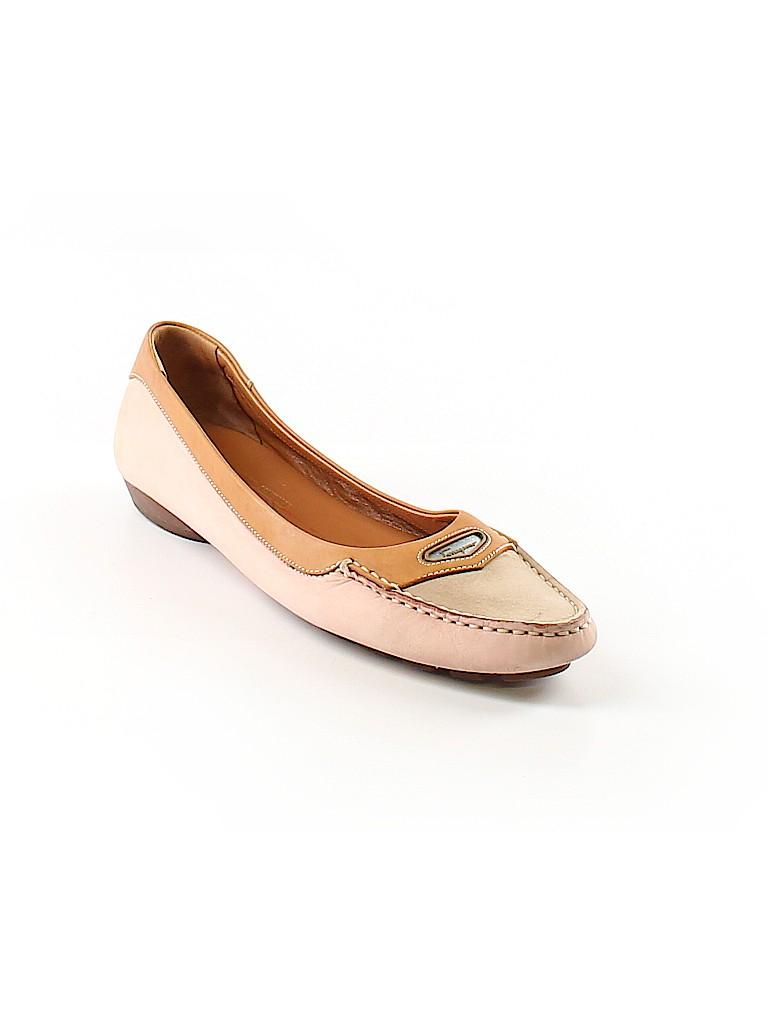 755b93c8d8fc Salvatore Ferragamo 100% Suede Solid Light Pink Flats Size 8 - 77 ...