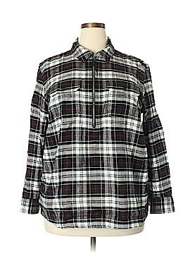 Chaps Long Sleeve Blouse Size 2X (Plus)
