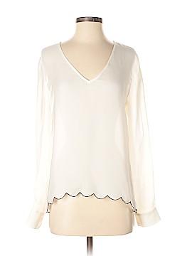 Jenni Kayne Long Sleeve Silk Top Size S