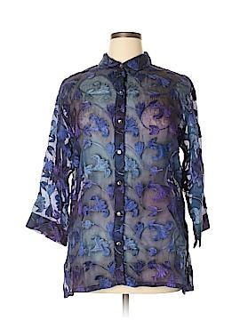Chico's Design 3/4 Sleeve Silk Top Size XL (3)