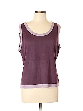 Linda Allard Ellen Tracy Sleeveless Silk Top Size 0X (Plus)