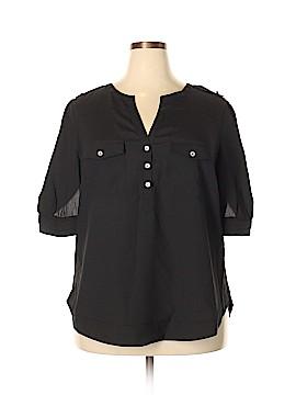 41Hawthorn Short Sleeve Blouse Size 2X (Plus)