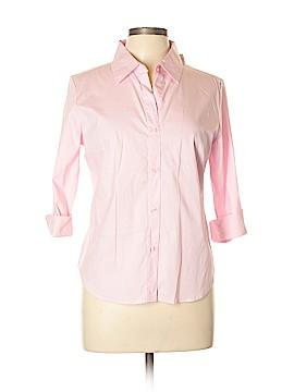 Arizona Jean Company 3/4 Sleeve Button-Down Shirt Size L
