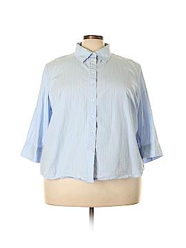 IZOD Long Sleeve Button-Down Shirt Size 3X (Plus)