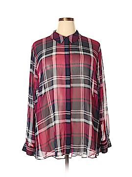 Lane Bryant Long Sleeve Blouse Size 28 - 26 Plus (Plus)