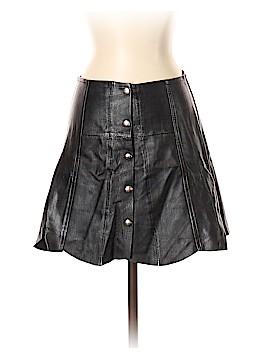 Vintage Couture Faux Leather Skirt Size 36 (EU)