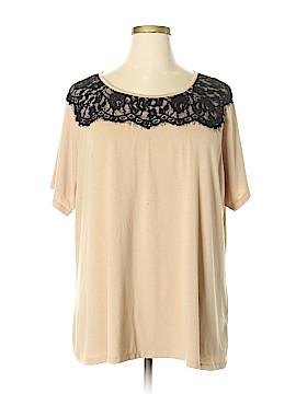 Roz & Ali Short Sleeve Top Size 3X (Plus)