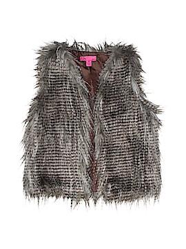 T.Q. Knits Faux Fur Vest Size 7 - 8