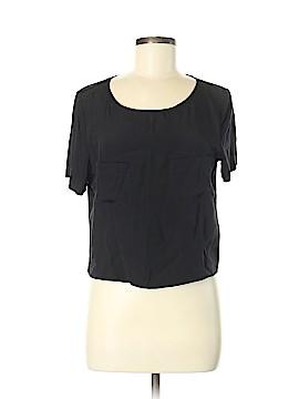 Tibi Short Sleeve Silk Top Size M