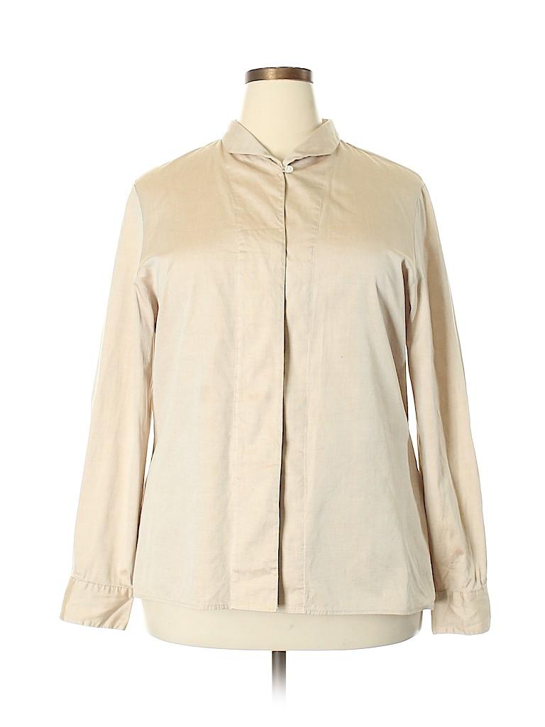 Orvis Women Long Sleeve Button-Down Shirt Size 20 (Plus)