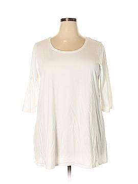 Purejill 3/4 Sleeve T-Shirt Size 3X (Plus)