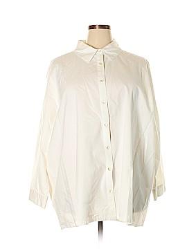 Ulla Popken Long Sleeve Button-Down Shirt Size 24 - 26 (Plus)