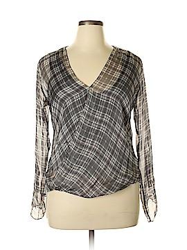 Bailey 44 Long Sleeve Silk Top Size L
