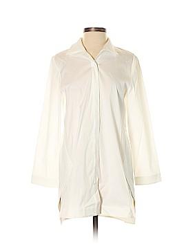 Lafayette 148 New York Long Sleeve Button-Down Shirt Size S