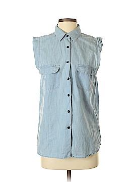 Patterson J. Kincaid Sleeveless Button-Down Shirt Size M