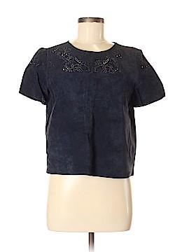 Zara Basic Short Sleeve Blouse Size M