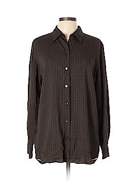 Lizsport Long Sleeve Button-Down Shirt Size L