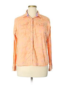 Aura Long Sleeve Button-Down Shirt Size XL