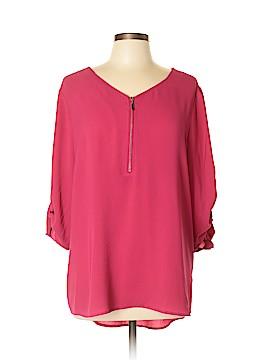CB 3/4 Sleeve Blouse Size XL