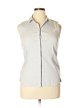 Lafayette 148 New York Sleeveless Button-Down Shirt Size 14