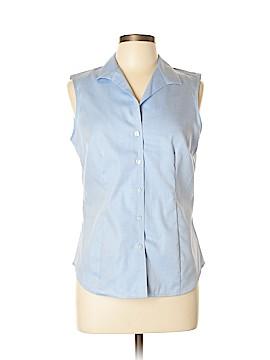 Jones New York Signature Sleeveless Button-Down Shirt Size M