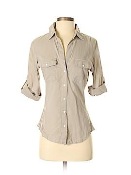 James Perse Short Sleeve Button-Down Shirt Size 2