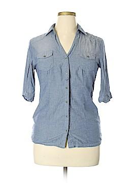 Ashley by 26 International Short Sleeve Button-Down Shirt Size XL