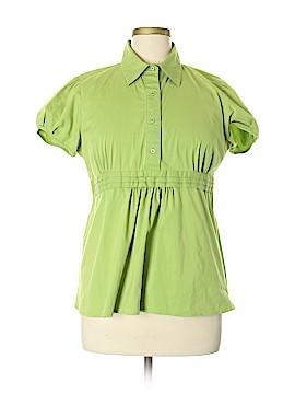 Ann Taylor LOFT Short Sleeve Button-Down Shirt Size XL