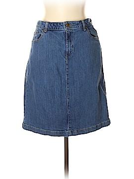 Coldwater Creek Denim Skirt Size 12 (Petite)