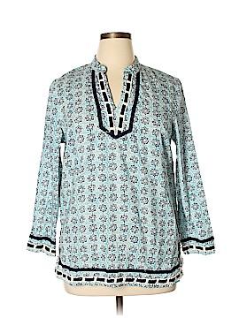 Saint Tropez West 3/4 Sleeve Blouse Size XL