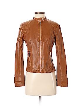 Black Rivet Leather Jacket Size XS
