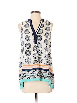 Vanessa Virginia Sleeveless Silk Top Size S