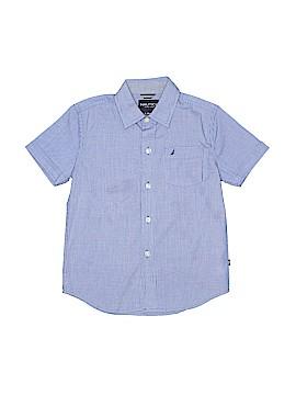Nautica Short Sleeve Button-Down Shirt Size 7
