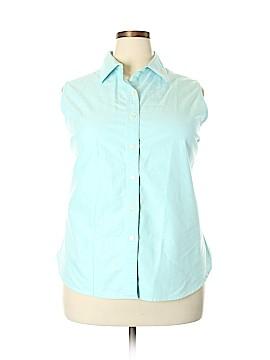 L.L.Bean Sleeveless Button-Down Shirt Size 2X (Plus)