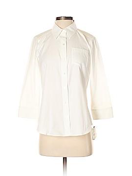 Liz Claiborne 3/4 Sleeve Button-Down Shirt Size 4 (Petite)