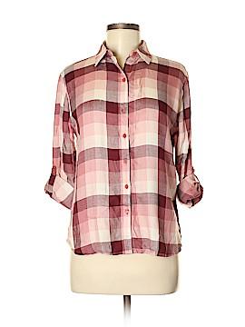 Love, Fire Long Sleeve Button-Down Shirt Size M